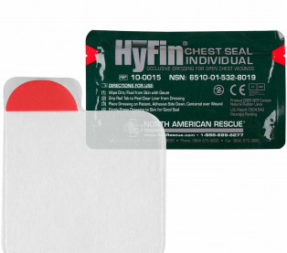 "The HyFin Chest Seal, 6"" x 6"""