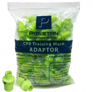 The Prestan Rescue Mask Training Adapter - 50 Per Pack