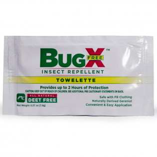 The BugX FREE Natural Insect Repellent Towelette, Wallmount Dispenser, 50/Box
