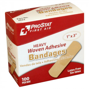 "The Prostat First Aid Heavy Woven Adhesive Bandage 1"" x3"""
