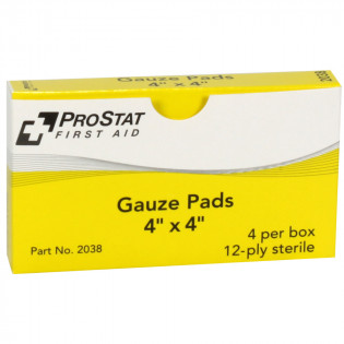 "The Prostat First Aid 4"" x 4"" Sterile Gauze Pads, 4 Per Box"