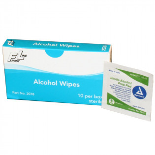 The Alcohol Wipes - 10 Per Box