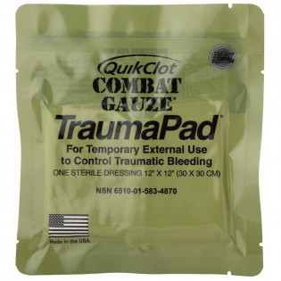 The QuikClot Combat Gauze TraumaPad, Military
