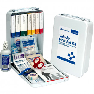 The First Aid Only® Vehicle First Aid Kit - 94 Pieces - Metal Case