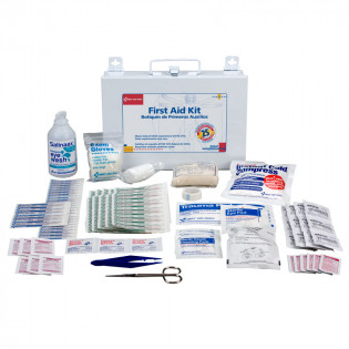 The First Aid Only® 25 Person Bulk First Aid Kit w/ CPR Face Shield