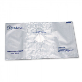 The Simulaids Simulaids Mannequin Face Shields - 100 Per Pack