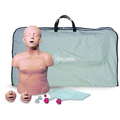 The Simulaids Brad Jr. CPR Training Mannequin w/ Carry Bag