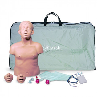 The Simulaids Brad Jr. CPR Training Mannequin w/ Electronics and Bag