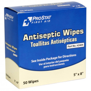 The Antiseptic Wipes, 50 Per Box