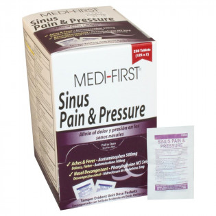 The Medi-First Sinus Pain & Pressure - 250 Per Box