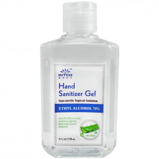 The 4 oz. Hand Sanitizer, 70% Isopropyl Alcohol, Clear Bottle
