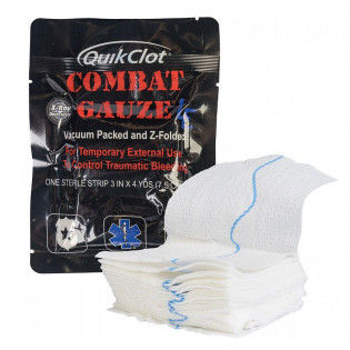 The QuikClot Combat Gauze, Z-Fold, Law Enforcement