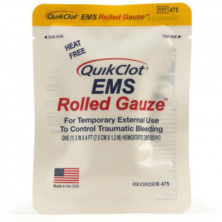 "The QuikClot EMS Rolled Gauze, 3"" x 48"""