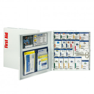 The First Aid Only Large Metal SmartCompliance Cabinet, ANSI A+ with Meds