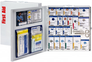 The First Aid Only Large Metal SmartCompliance Food Service Cabinet, ANSI A+