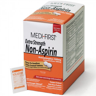The Medi-First Non-Aspirin Extra Strength, 500/box