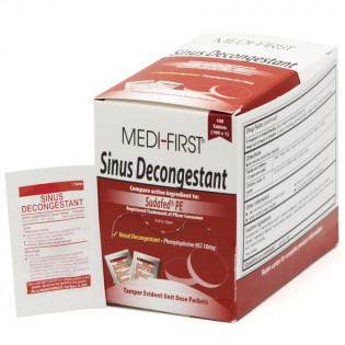 The Medi-First Sinus Decongestant, 100/box