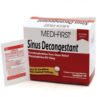 The Medi-First Sinus Decongestant, 24/box