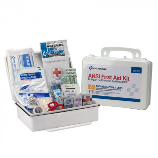 The First Aid Only 25 Person First Aid Kit, ANSI A,  Plastic Case