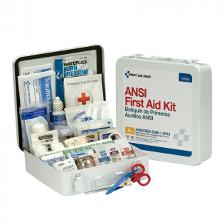 The First Aid Only 50 Person First Aid Kit, ANSI A+,  Metal Case