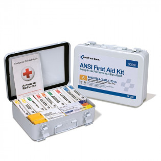 The First Aid Only 16 Unit First Aid Kit, ANSI A,  Metal Case