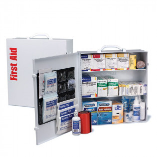The First Aid Only 3 Shelf First Aid ANSI B+ Metal Cabinet, with Meds