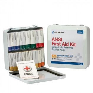 The First Aid Only 24 Unit First Aid Kit, ANSI A+,  Metal Case