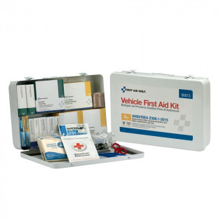 The First Aid Only 50 Person Vehicle ANSI A+ First Aid Kit, Metal Case