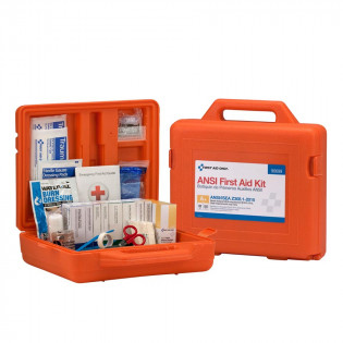 The First Aid Only 50 Person Weatherproof ANSI A+ First Aid Kit, Plastic Case
