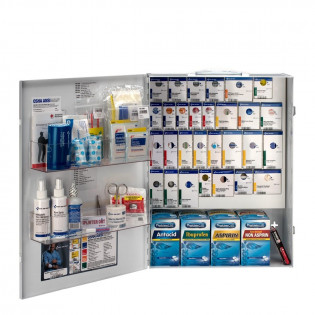 The XL Metal Smart Compliance General Business First Aid Cabinet with Meds