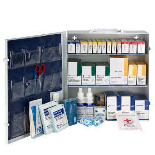 The First Aid Only 3 Shelf First Aid ANSI B+ Metal Cabinet, without Meds