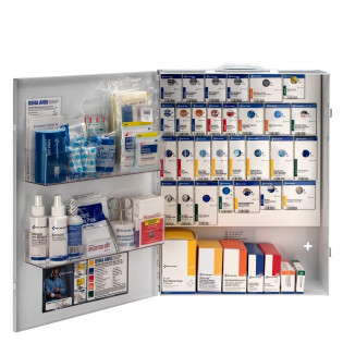 The XL Metal Smart Compliance Food Service First Aid Cabinet without Meds