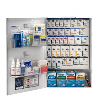 The XXL Metal Smart Compliance General Business First Aid Cabinet with Meds