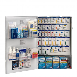 The XXL Metal Smart Compliance Food Service First Aid with Meds