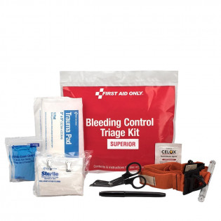 The Bleeding Control  Triage Kit - Superior, Plastic Bag