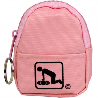 The American CPR Training™ CPR Pink BeltLoop/KeyChain BackPack: Shield-Gloves-Wipe