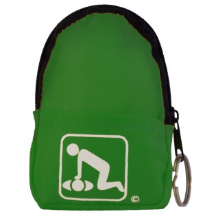 The American CPR Training™ CPR Green Belt/KeyChain BackPack:Shield-Gloves