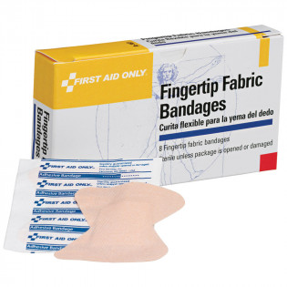 The First Aid Only® Fingertip Bandage - Fabric - 8 Per Box