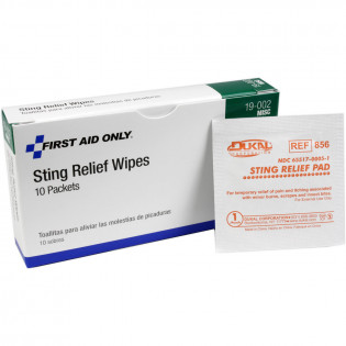 The First Aid Only® Insect Sting Relief Pad - 10 Per Box