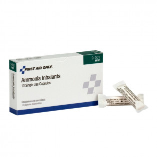 The First Aid Only® Ammonia Inhalant (Smelling Salts) Ampoules / Ampules - 10 Per Box