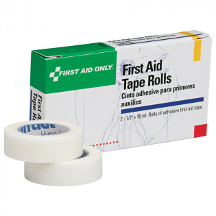"The First Aid Only® First Aid Tape - 1/2"" x 10 yd. - 2 Rolls Per Box"