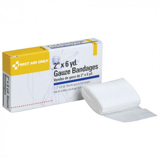 "The First Aid Only® Gauze Bandage - Sterile - 2""x6 yd. - 2 Per Box"