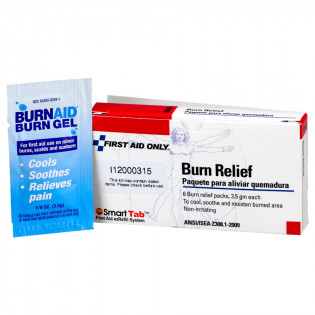 The First Aid Only® Burn Relief - 3.5 gm. - 6 Per Box
