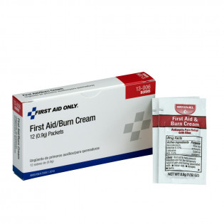 The First Aid Only® First Aid/Burn Cream - .9 gm. - 12 Per Box
