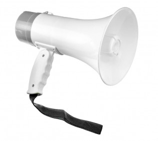 The 10W Rechargeable Megaphone (Talk, Record, Play Music)