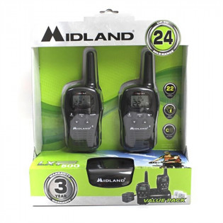 The MayDay Industries Emergency Gear Midland Walkie Talkie Radios (Pair) - 24 Mile - 22 Channel