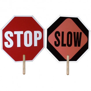 The Hand Held Stop / Slow Sign - 2 Sided by MayDay Industries Emergency Gear