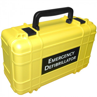The Defibtech Deluxe Hard Carrying Case - Yellow