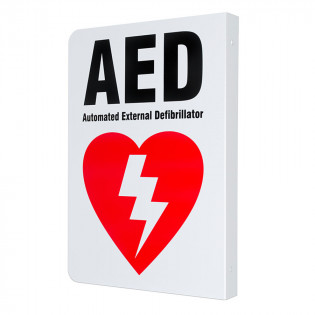 The Defibtech Two-way Wall Sign