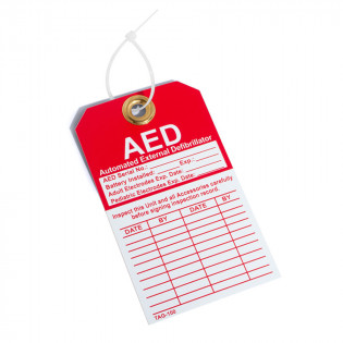 The Defibtech AED Inspection Tag